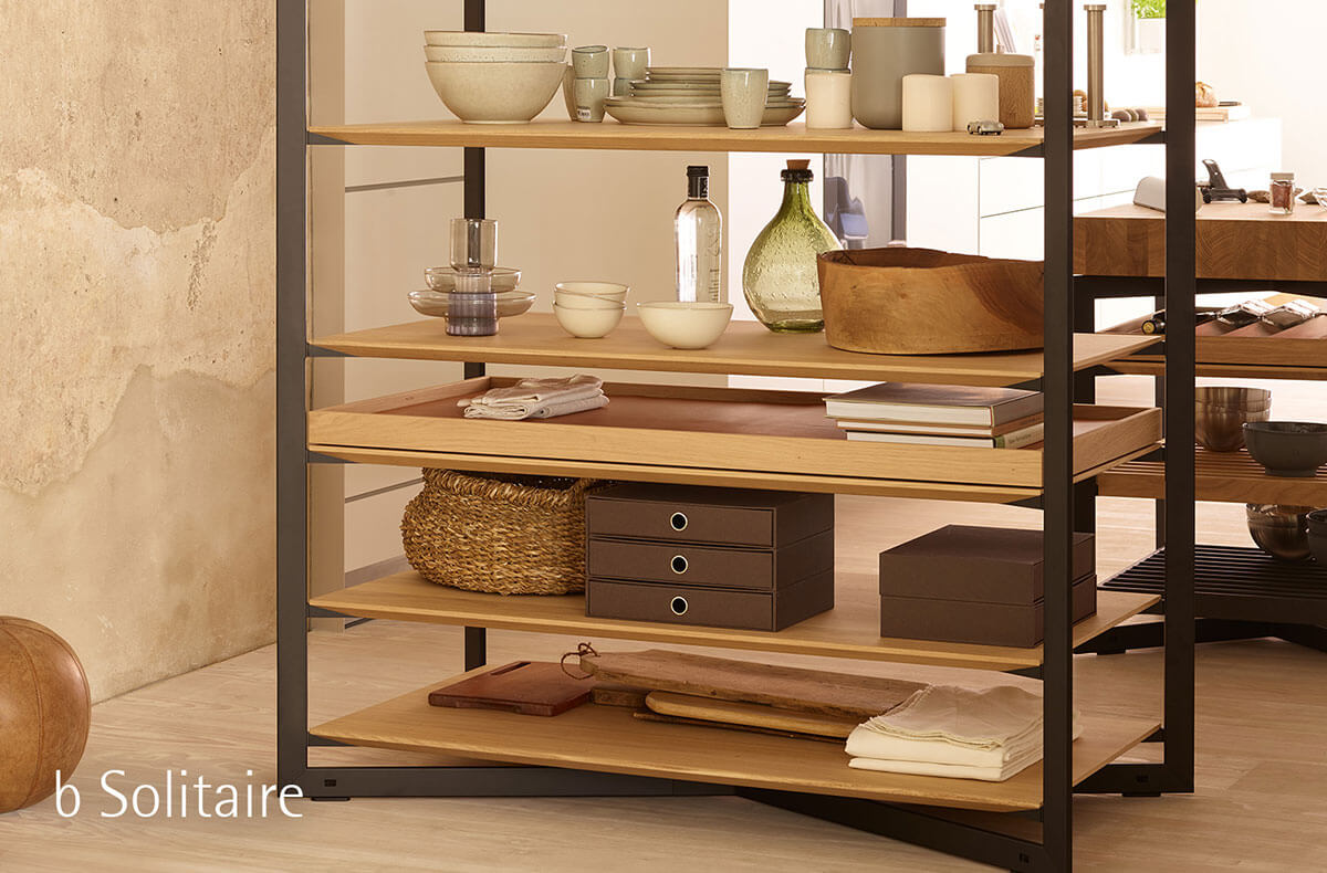 Special Crockery And Glass On The B Solitaire Shelf Unit Brings Individual  Style To Your Home