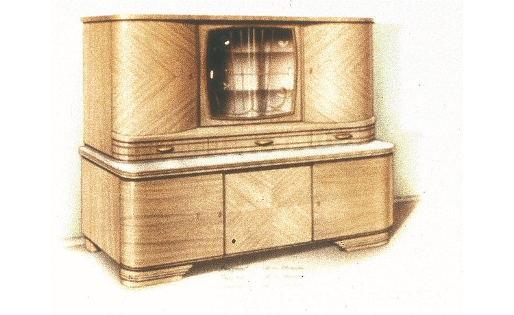 1951: The first bulthaup product – solid kitchen sideboard with rounded edges