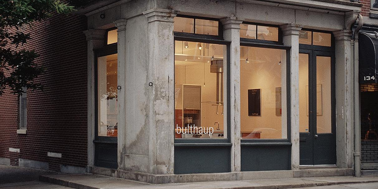 Exterior view of bulthaup Philadelphia's showroom