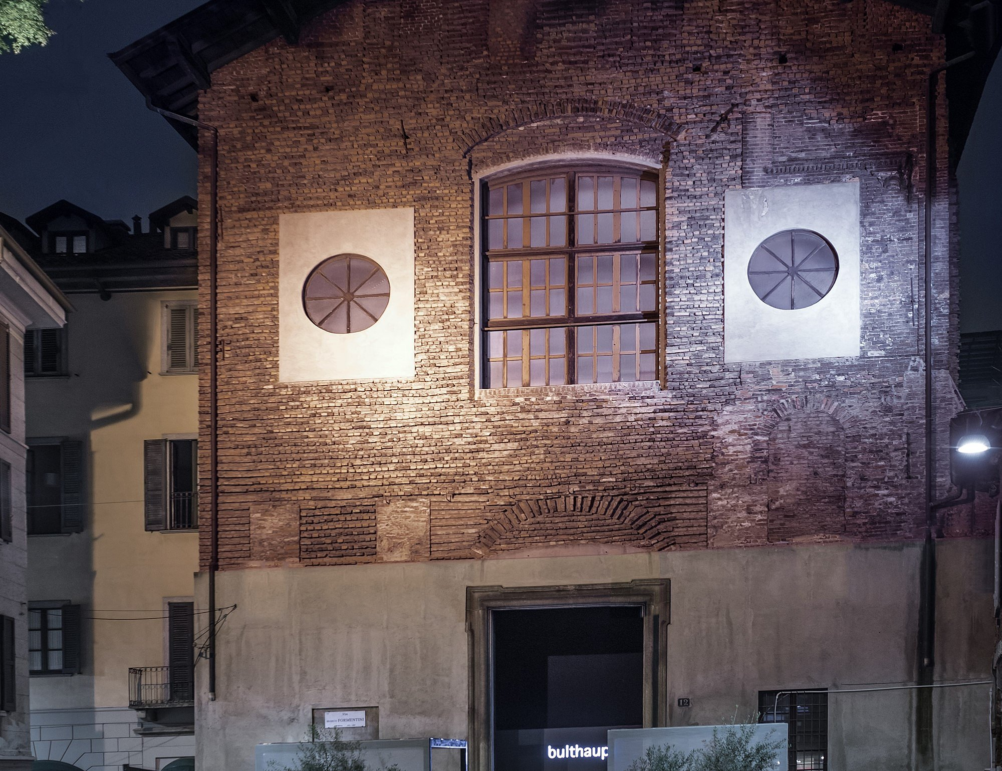 Exterior view of San Carpoforo in Brera which served as presentation venue for bulthaup during the Salone del Mobile 2018.