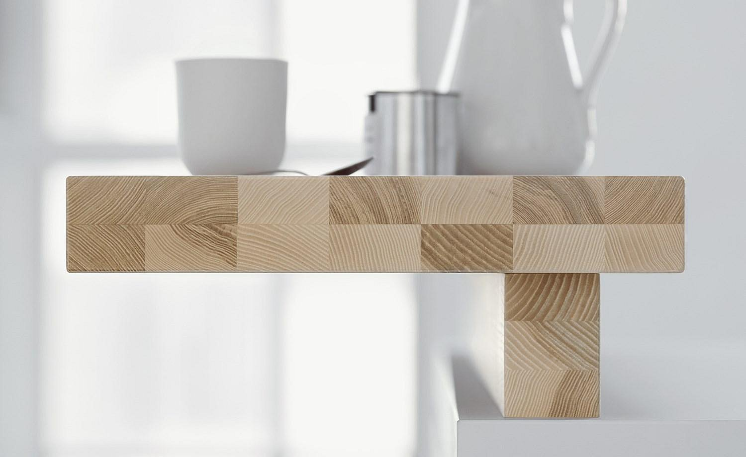 Soul of the kitchen: bar element with individual grain and precise layered adhesion