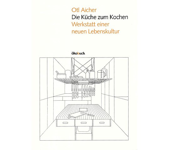 Book cover with line drawing of the new functional kitchen
