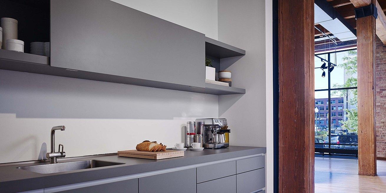 b1 kitchen in gray laminate - Kitchen Chicago